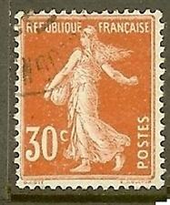 "FRANCE TIMBRE STAMP N° 160 "" TYPE SEMEUSE FOND PLEIN , 30 C ROUGE"" OBLITERE TB"