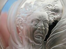 1.3-OZ .925 SILVER FRANKLIN MINT COIN DAMNED MAN GENIUS OF MICHELANGELO + GOLD