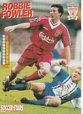 ROBBIE FOWLER LIVERPOOL & PETER ATHERTON ORIGINAL SIGNED MAGAZINE CUTTING
