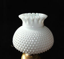 VTG   Hobnail Milk Glass Oil Lamp Shade 7inch fitter Replacement shade