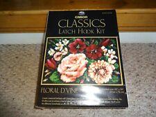 "Caron Classics Latch Hook Kit Floral D'Vine 20 x 30"" #Cco106 Sealed New"