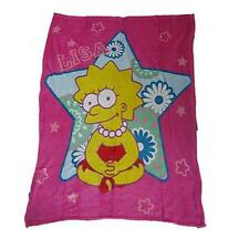 "New Officially Licensed Lisa Simpson Polar Fleece Throw Blanket ""47"" X ""59"" Soft"