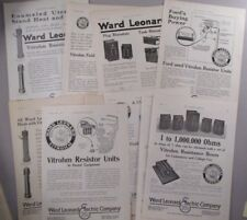 Ward Leonard Electric Co. LOT of 10 PRINT AD - 1920 & 1921 ~~ electrical