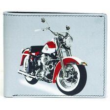 Golunski Da Uomo In Pelle HARLEY MOTO PRINT Design Cash & portafoglio carte di credito
