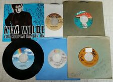 Miscellaneous Lot of 5 (45's) Sinatra, Sylvers, Bowie, Kim Wilde, Robert Palmer