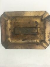 New listing Vintage Club Clothes Brand Ashtray Promotional Store Advertising Brass
