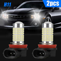 2PCS H11 H9 H8 144SMD LED Fog Light Bulb Driving Lamp DRL 6500K Xenon White 100W