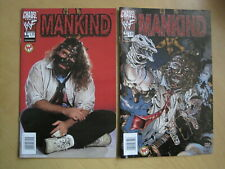 MANKIND : ISSUE 1. Set of 2 COVERS : Photo Cover + Painted.WWF.1999 CHAOS SERIES