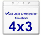 Zipper Waterproof Vaccination Card Holder Record 4 x 3 Protector vaccine CDC ID