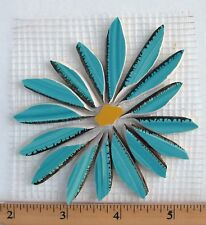 Large Blue Turquoise Daisy Aster Flower Mosaic Tiles Broken Cut China Plate