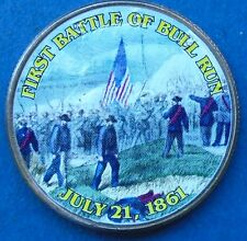 2011 Kennedy Uncirculated Half Dollar Obverse Colorized Battle of Bull Run