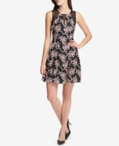MSRP $129 Guess Printed Illusion-Trim Dress SIZE 2
