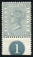 Sierra Leone SG30 2d Grey wmk Crown CA SUPERB M/Mint Plate number