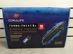 Coralife Turbo Twist 6X 18 WATT Ultraviolet Sterilizer - (Shelf 21)(J)