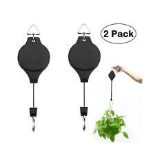 2x Plant Pulley Retractable Hanger Hanging Planter Flower Basket Hook Pot Garden