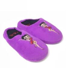 Betty Boop Slipper Ultra-Soft Women's Plush Cozy Slippers Purple Medium 7-8