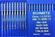 SCHMETZ DBX1 SUK CANU:14:25FB1 NM:70 SIZE:10 INDUSTRIAL SEWING MACHINE NEEDLES