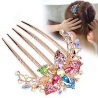 Women Colorful Flower Hollow Heart Barrette Hair Accessories Rhinestone 2020 NEW