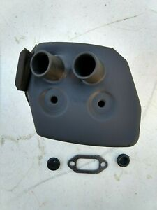 Dual port muffler for Husqvarna 266XP 266SE early model 61