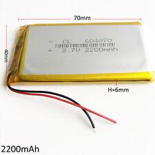 3.7V 2200mAh 604070 Lipo Polymer Battery For DVD mobile phone power band PDA PAD