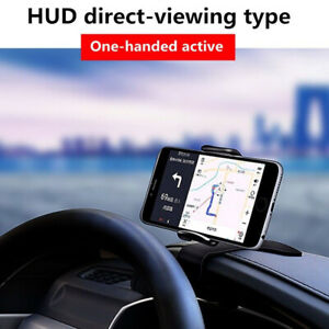Dashboard Mount Car Phone Holder 360° Rotation HUD Stand For Smartphone X