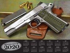 2020 HANDGUN WALL CALENDAR w/ Colt 1911 Sig Sauer Glock Ruger Kimber S&W
