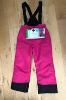 NEW Ski salopette trousers snowboarding Age 7-8 Crane Pink Gators Winter Girls