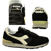 Diadora Camaro Mens Unisex Lace Up Trainers Suede Nylon Black C2609 D95