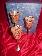Neu! PartyLite Votivkerzenhalter Trio Prunk P92593 + PartyLite Teelicht