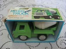 Clover Fat Cat Heavy Gauge Pressed Steel Metal Toy Mixer Truck 60s 70s Enamel