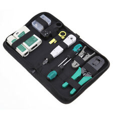 Network Ethernet LAN RJ45 Cable Tester Crimper Crimping Hand Tool Set W/ Bag
