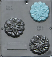 """Snowflake 3"""" Diameter Mold for Soap or Chocolate Candy Mold  005 NEW"""