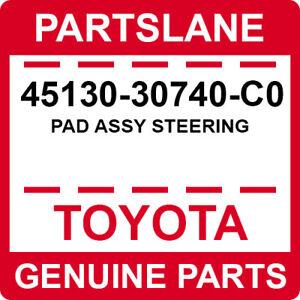 45130-30740-C0 Toyota OEM Genuine PAD ASSY STEERING