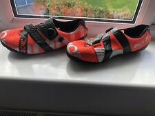 Men's Bontrager Riot carbon Boa road shoes, UK10,USA10.5,Eur 45, orange/white