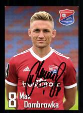 Max Dombrowka Autogrammkarte SpVgg Unterhaching 2019-20 Original Signiert