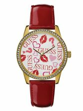 Montre Guess  U1206L2 GOLD-TONE AND RED ANALOG WATCH