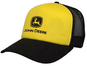 NEW John Deere Black and Yellow Construction Foam Front Cap LP73372