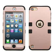 iPod Touch 5 5th Gen IMPACT TUFF HYBRID Case Skin Phone Cover Rose Gold Black