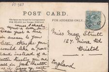 Genealogy Postcard - Strutt - 127 Mina Road, Bristol, England  RF567