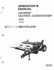 New Holland 479 Discbine Mower-Conditioner  Operator's Manual 42047914