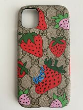 Gucci Case For Iphone 11 With Logo Strawberry