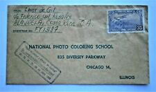 Costa Rica 1955 Air Mail Cover to Chicago