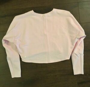 Lululemon Oh Hey Pullover Long Sleeve French Terry Crop Top Shirt PINK 6 NEW!