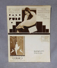 Vintage BECKMAN FURS Annual 8-pg Sale Catalogue 1920's FLAPPER GIRL Advertising