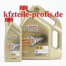 Original CASTROL EDGE SAE 5W-30 LL TITANIUM FST 1l + 5l = 6 Liter Motoröl Öl