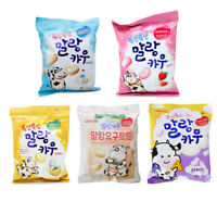 Korean LOTTE MALLANG COW 158g, Milk Strawberry Banana Yogurt Blueberry Cheese