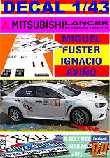 DECAL 1/43 MITSUBISHI LANCER EVO X M.FUSTER RALLY DEL BIERZO 2015 WINNER (07)