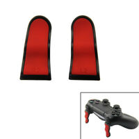 Trigger extenders for PS4 Controller L2 R2 rubberised - Black & Red | ZedLabz