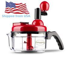 Hand crank food processor chopper