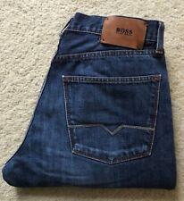 Mens Hugo Boss Orange indigo blue straight leg denim jeans W 31 L 29